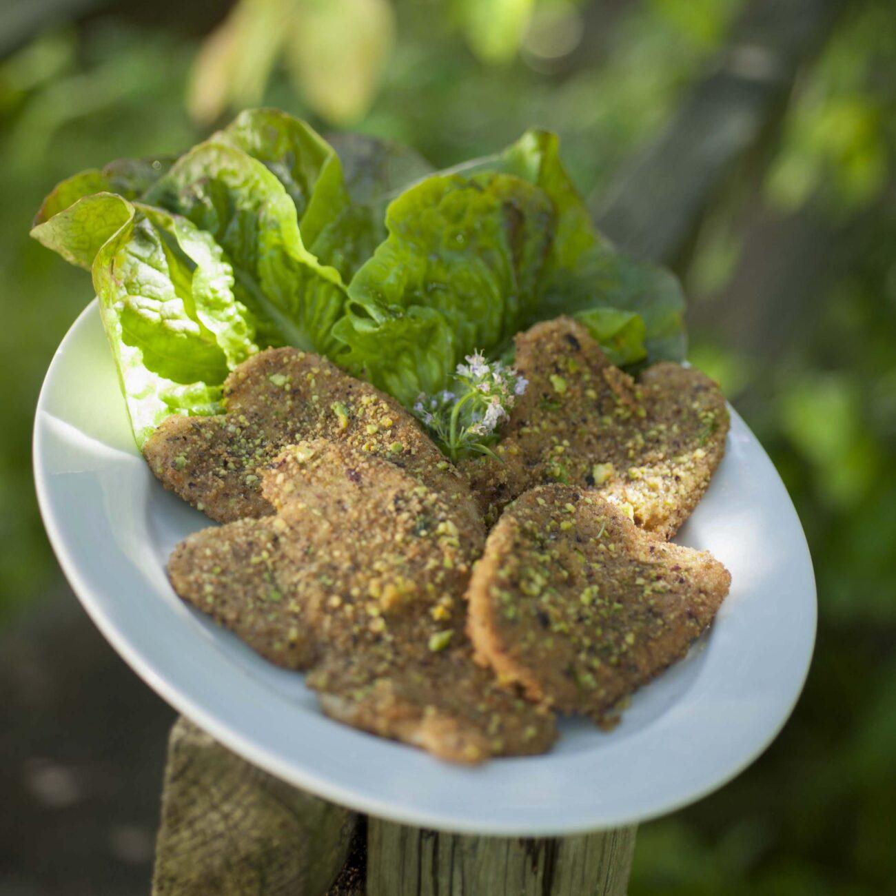 Le bistecchine di seitan ai pistacchi